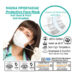Προστατευτική Μάσκα πολλαπλών χρήσεων με φίλτρο – Άριστης ποιότητας Σε λευκό  χρώμα 10 τεμαχίων