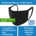 Μάσκα Πολλαπλών Χρήσεων Υφασμάτινη 100% Βαμβακερή – Ελληνικής αντιπροσωπείας – 1 τεμάχιο – Μαύρη τριπλό ύφασμα – Επαναχρησιμοποιούμενη και Πλενόμενη